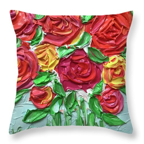 Celebration Roses - Throw Pillow