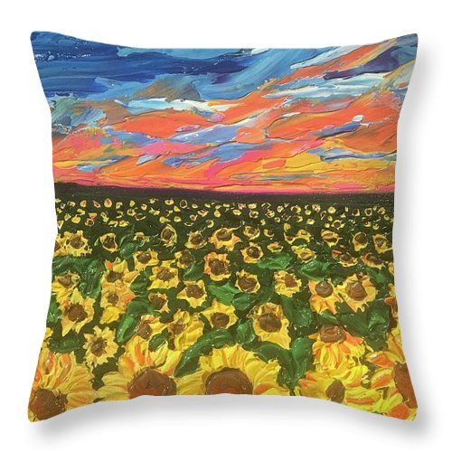 Related product : Field Of Suns - Throw Pillow