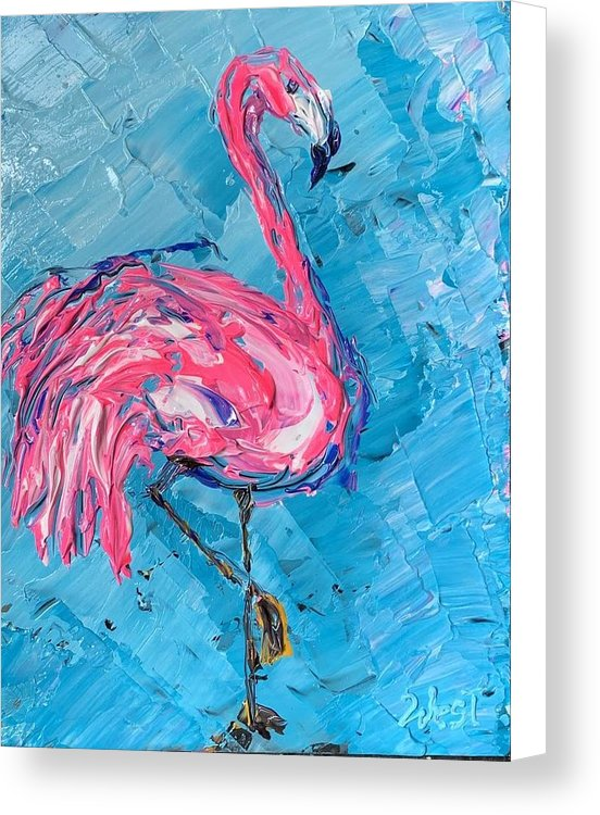 Flaming Flamingo - Canvas Print