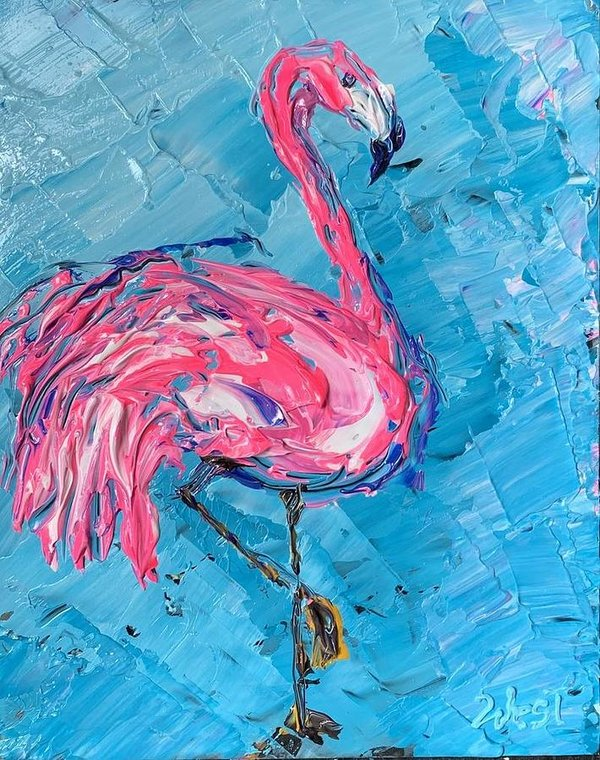 Flaming Flamingo - Art Print