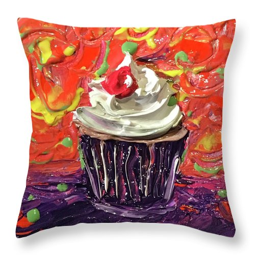 Funfetti Cupcake  - Throw Pillow