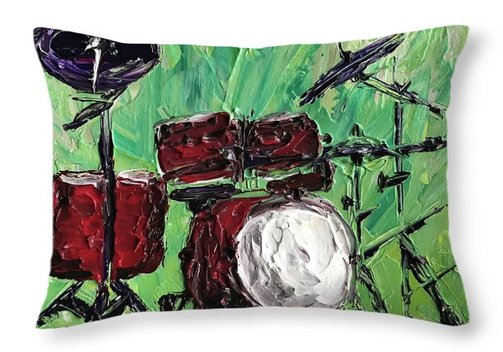 Funky Drums - Throw Pillow