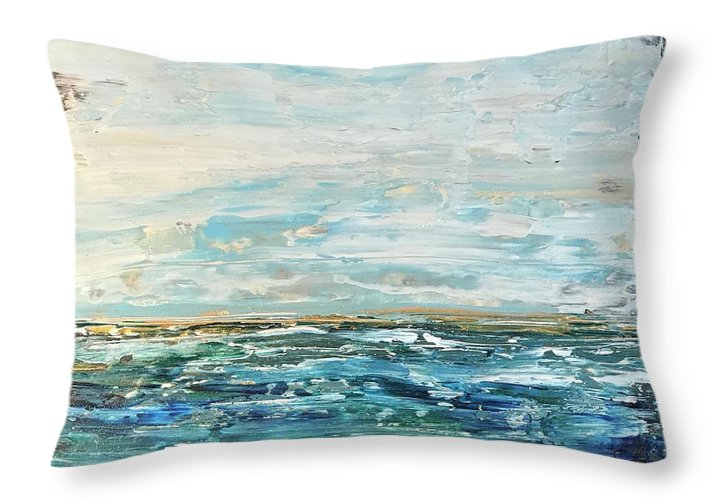 Gold Ocean - Throw Pillow