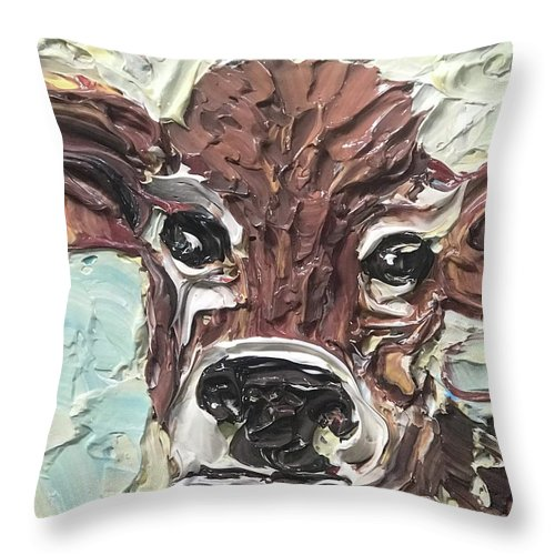 Curious Cow - Throw Pillow
