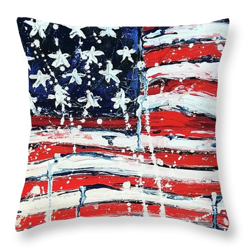 Home Of The Brave - Throw Pillow