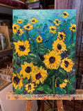 Sunflowers in the Blue - Artwork