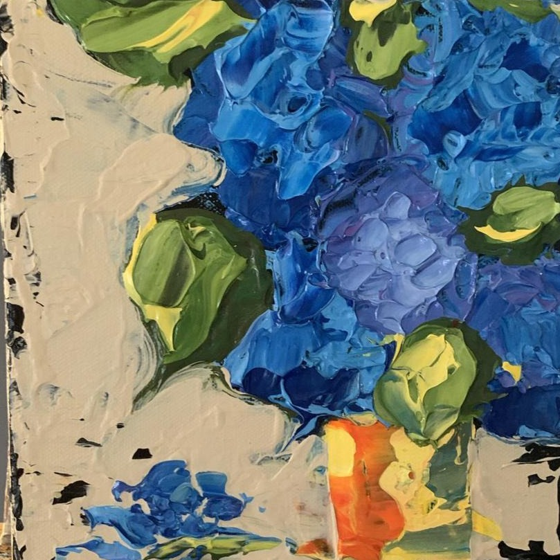"Hydrangea Love  8x8x1.5"" - Artwork"