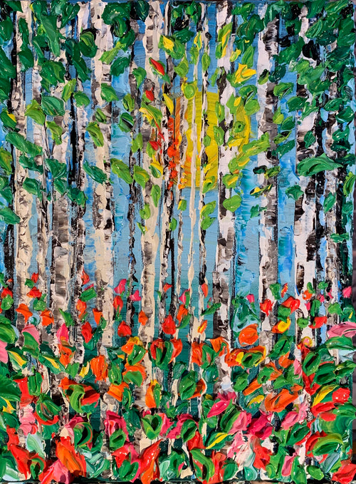 "Summer Birches 9""x12"""