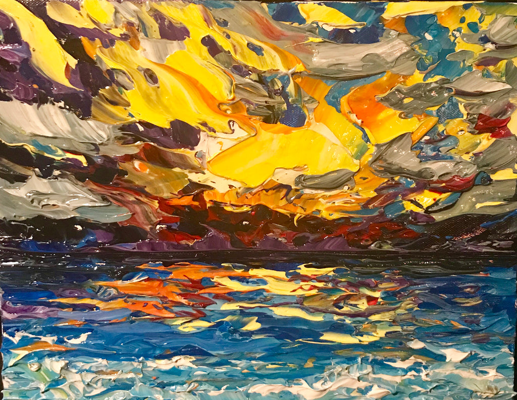 "Power Sunrise 11"" x 14"" x 1.5"""