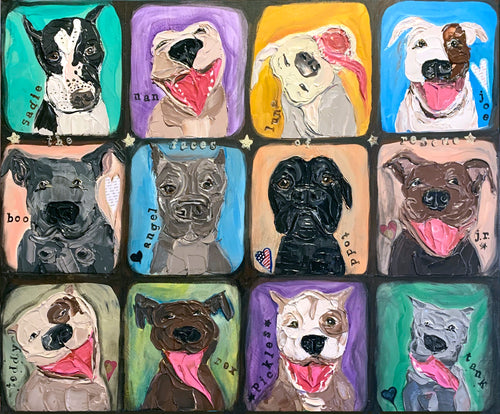 """The Faces of Rescue"" 24 x 30 x 1.5"""