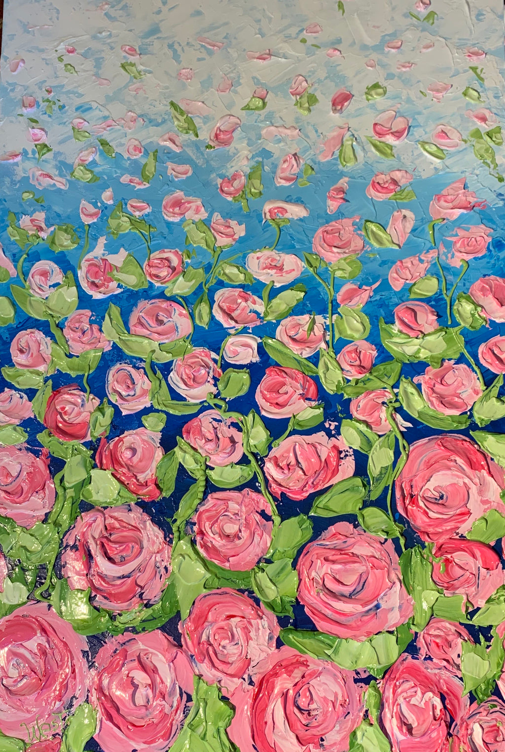 "New! It's Raining Roses"" 24"" x 36"" x 1.5"" - Artwork"