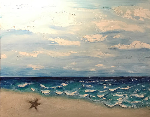 "One Starfish 24""x 30""x 1.5""- Artwork"