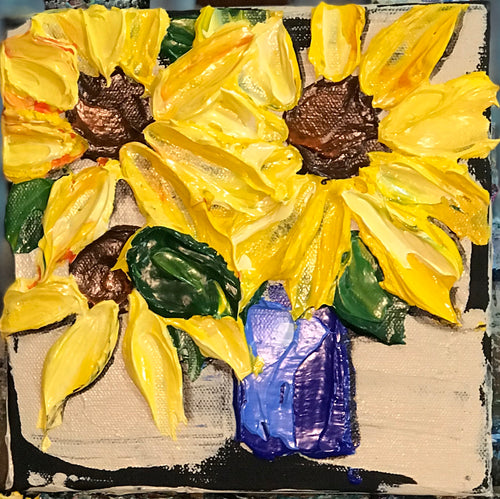 "New! Sunflower Love  8x8x1.5"" - Artwork"