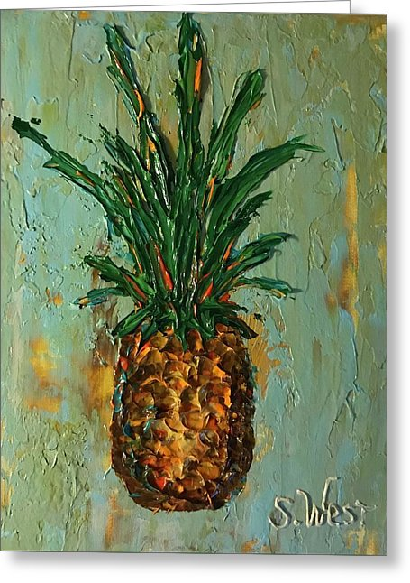 King Pineapple  - Greeting Card