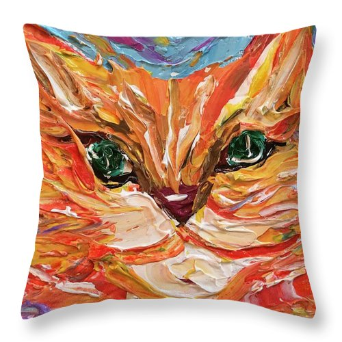 Related product : Green Eyed Tabby - Throw Pillow