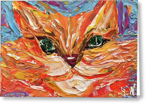 Related product : Green Eyed Tabby - Greeting Card