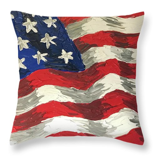 Land Of The Free - Throw Pillow