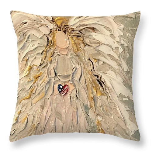 My Patriot Angel - Throw Pillow