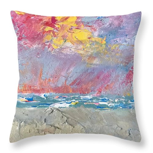 Pink Sky - Throw Pillow