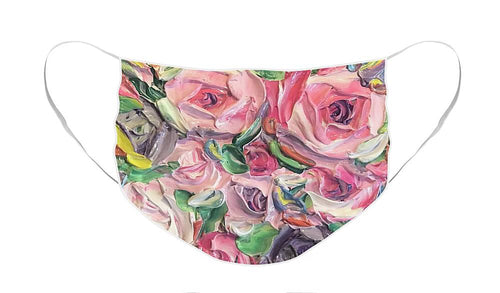 Rose and Peony Flower Bomb - Face Mask