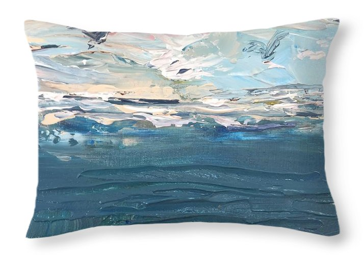 Sea Birds - Throw Pillow
