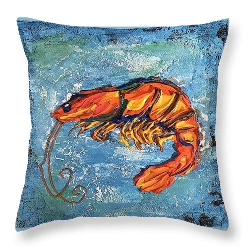 Shrimp - Throw Pillow