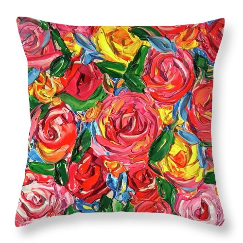 Sizzling Flower Bomb - Throw Pillow
