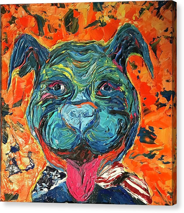 Smiling Pitty - Canvas Print
