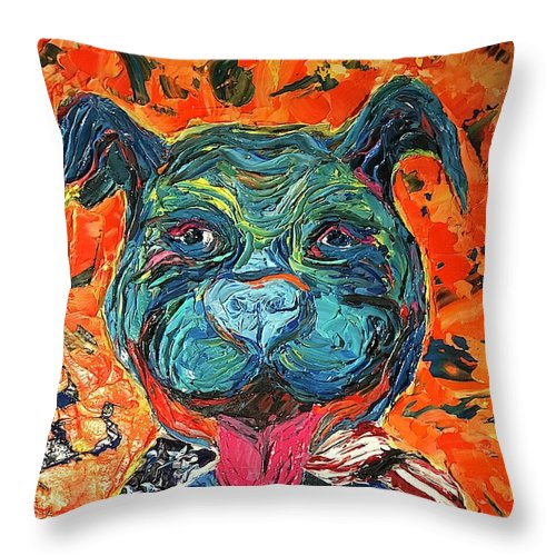 Smiling Pitty - Throw Pillow