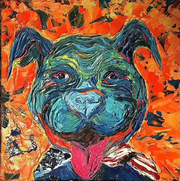 Smiling Pitty - Art Print
