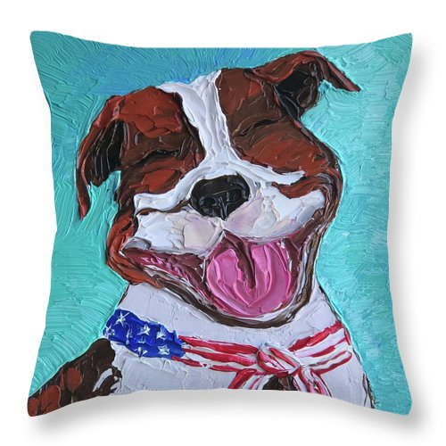 """That Pitty Smile"" - Throw Pillow"