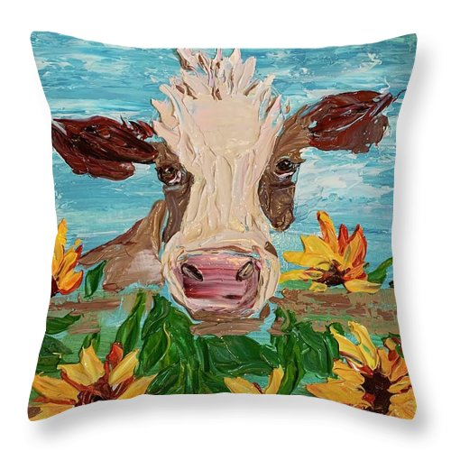 Sunny Cow - Throw Pillow