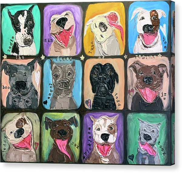 Related product : The Faces Of Rescue  - Canvas Print