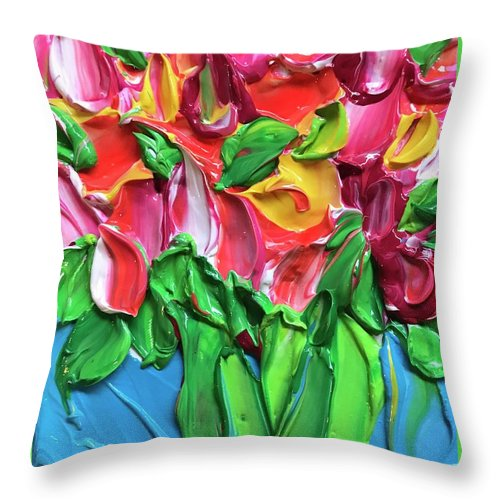 Tulip Party - Throw Pillow