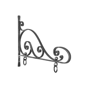 Hand Forged Steel Sign Bracket - Black, BB-0314