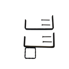 Ladder Brackets - Heavy Duty Security - w/Hammered Ornamental Ring and Security Screws, DB-0151
