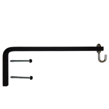 Hanging Plant Bracket Combo - 1/2 Inch Square Solid Steel, Cap Nut, Hook & S-Hook w/Basket, CO-1831