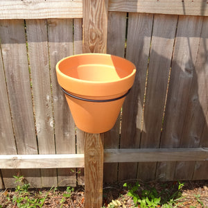 PR-9041 PotRing for 10 Inch Terracotta Pot - Black