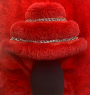 "Fallon Aurielle ""Fox Fur Rhinestone Boa"" (3 Different Colors)"