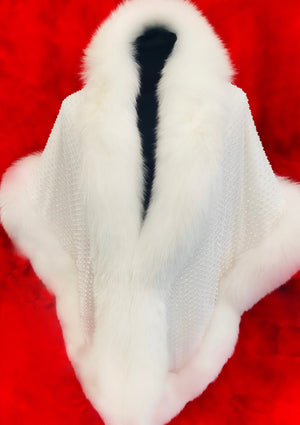 "Fallon Aurielle ""Fox Fur Crystal Boa"" (2 Different Colors)"