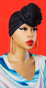 Black Onyx Head Scarf