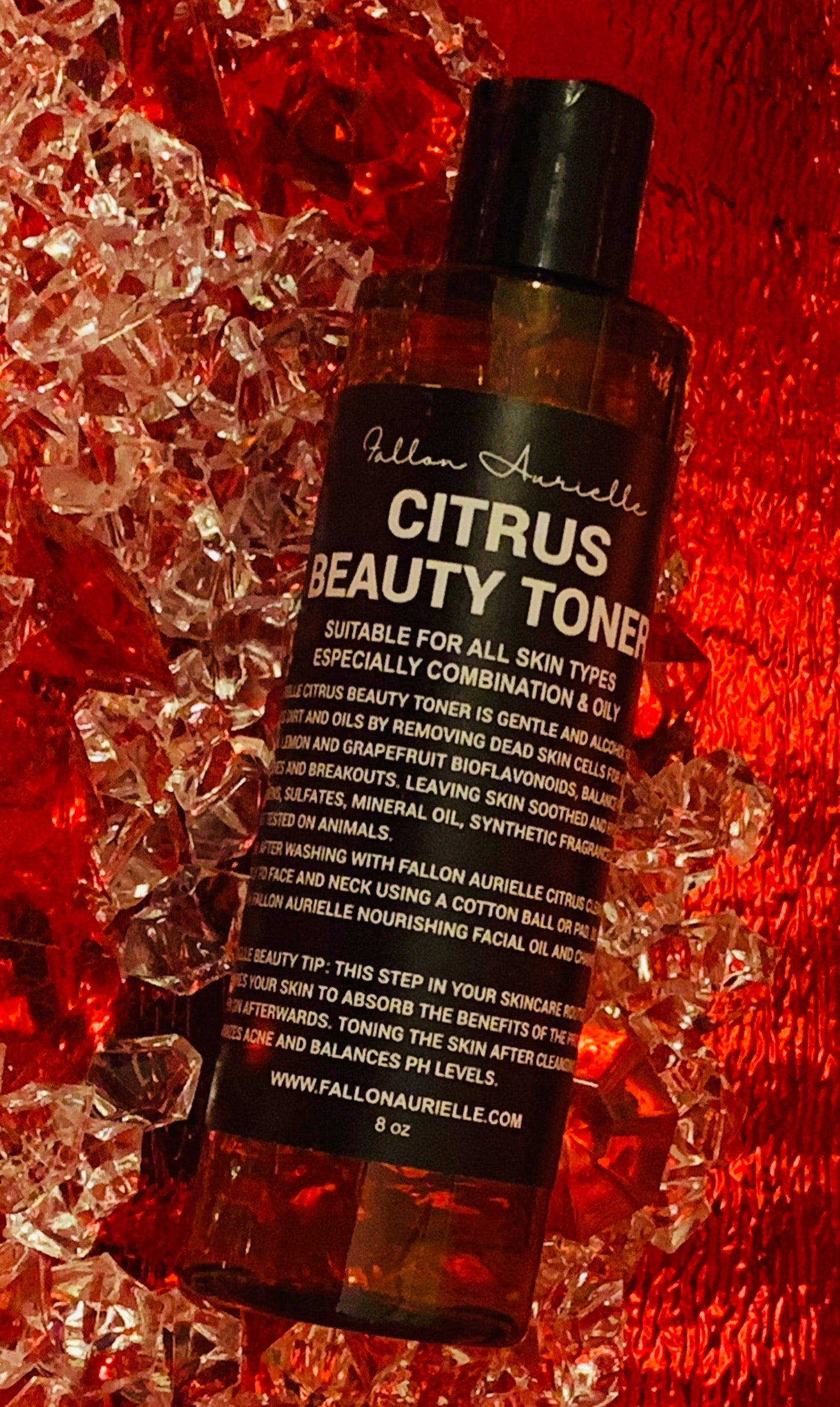 Fallon Aurielle Citrus Beauty Toner Skincare Bottle