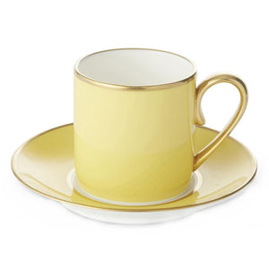 Furniture hire and equipment rentals - Harlequin Yellow Cup and Saucer