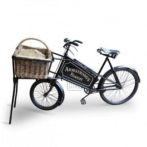 Traditional baker bicycle bike for hire prop