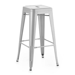Furniture hire and equipment rentals - Silver Cafe Culture Bar Stool (1214286856228)