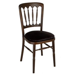 Furniture hire and equipment rentals - Mahogany Framed Banqueting Chair
