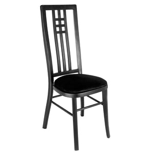 Furniture hire and equipment rentals - Tall Back Black Chair