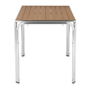 Furniture hire and equipment rentals - Square Teak Table with Aluminium Base