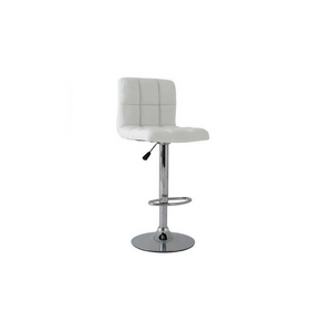 Furniture hire and equipment rentals - White Padded Bar Stool (1218675540004)