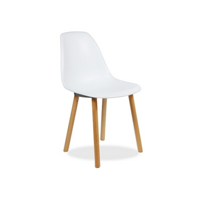 Furniture hire and equipment rentals - White Chair with Wood Legs (1218675081252)